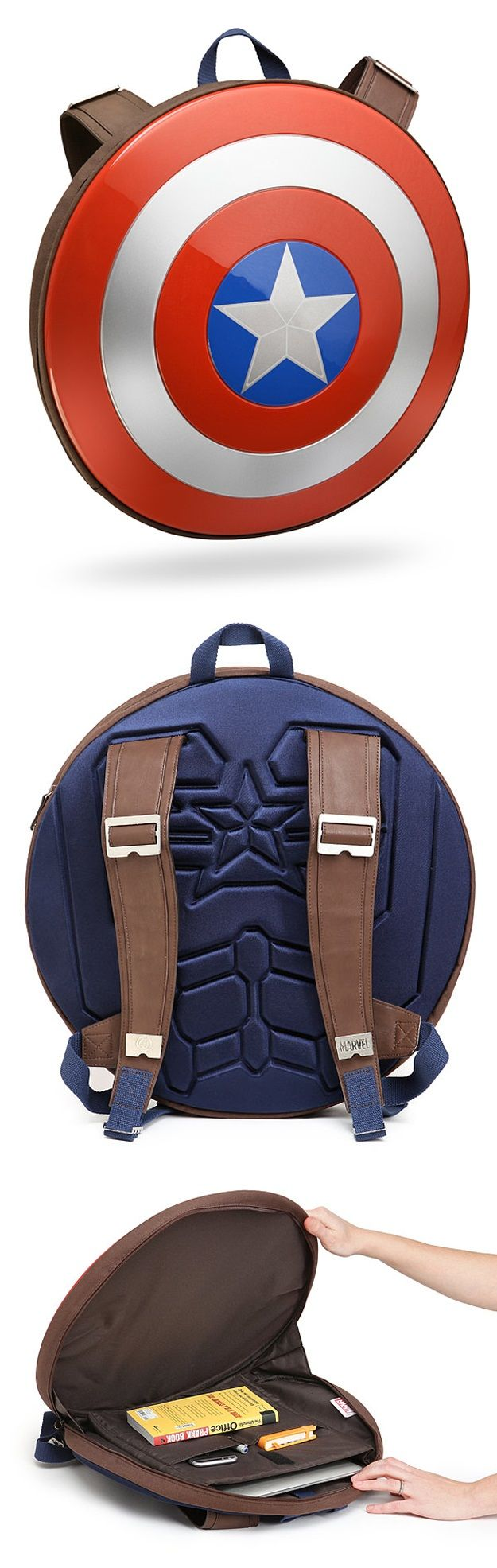 captain america shield backpack marvel pinterest comic captain america und kleidung. Black Bedroom Furniture Sets. Home Design Ideas