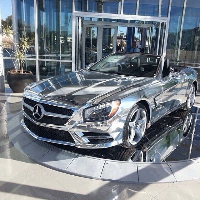 Mercedes Benz SL. Chrome, sweet chrome.