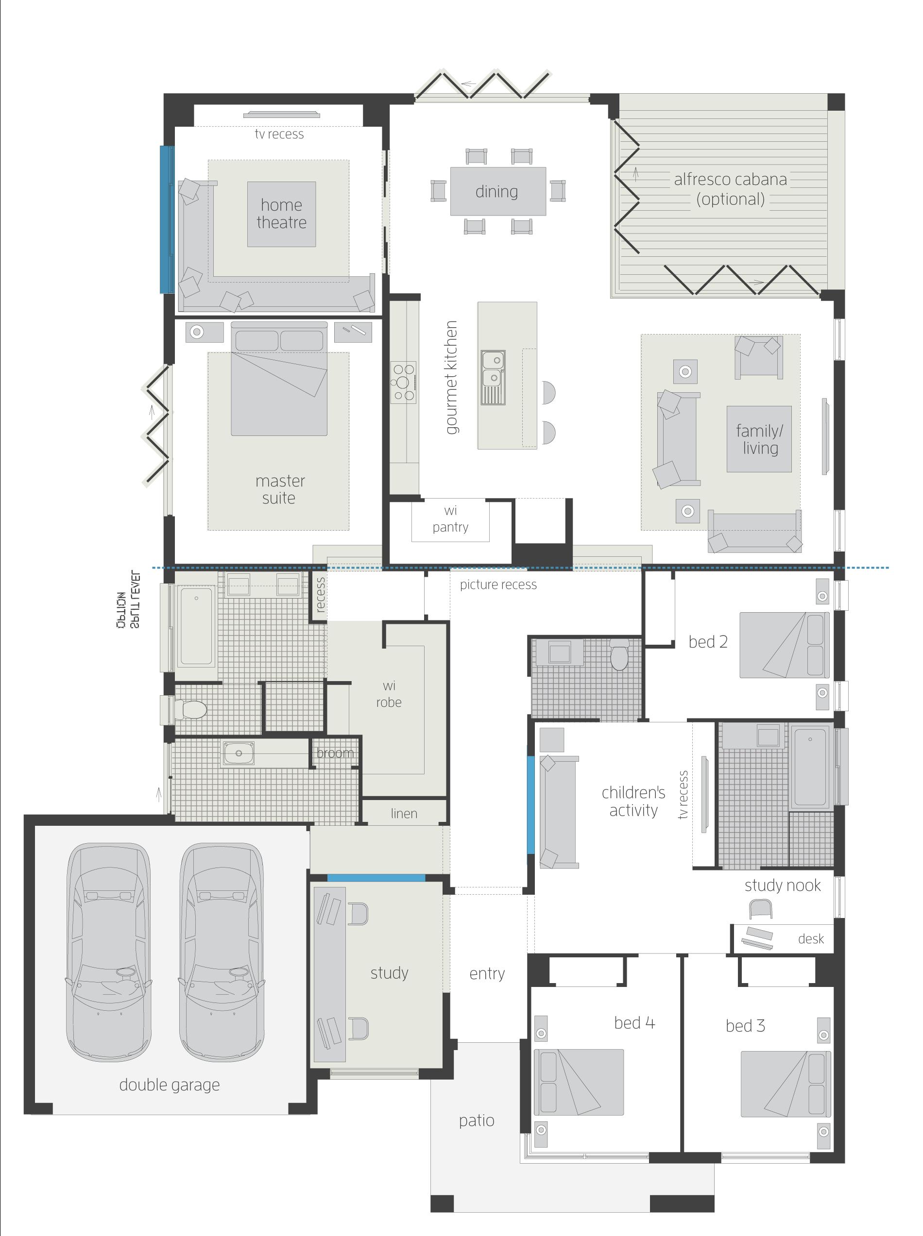 plan de maison bien pensée