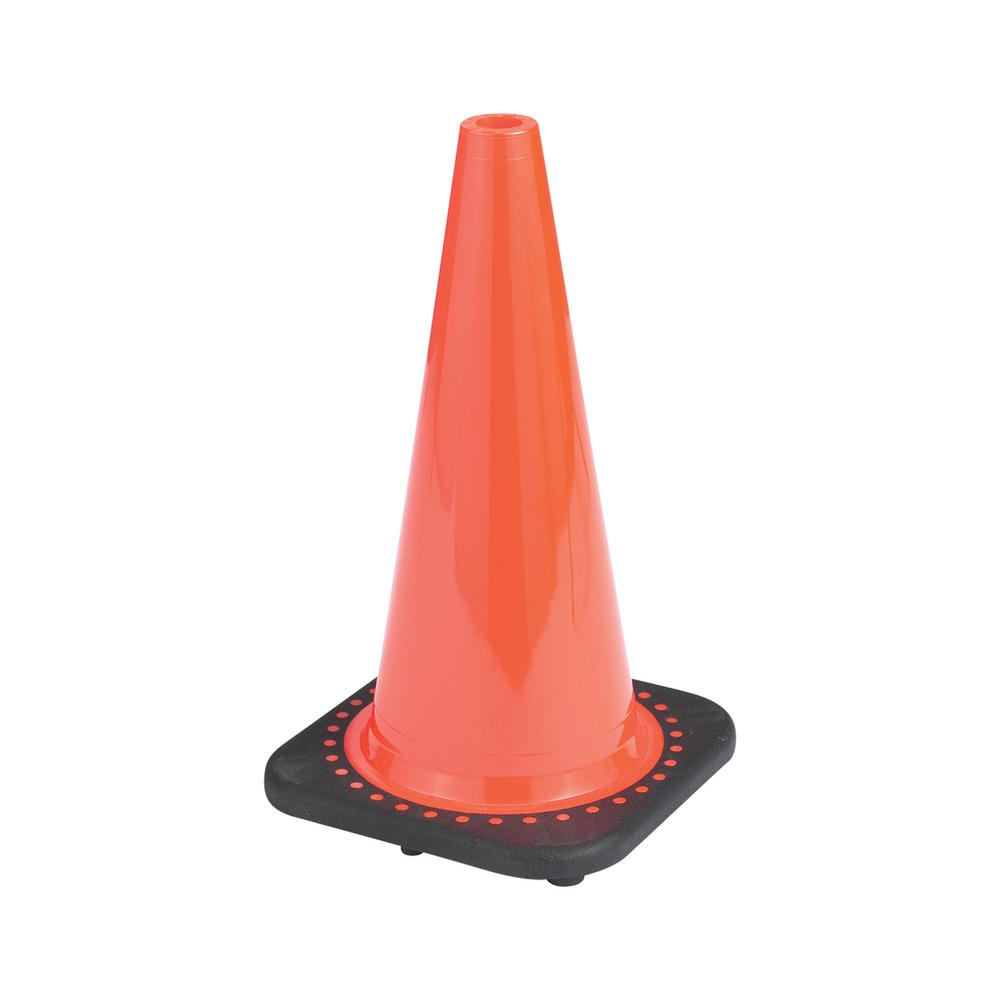 Boen 28 In Orange Pvc Non Reflective Traffic Safety Cone Oranges