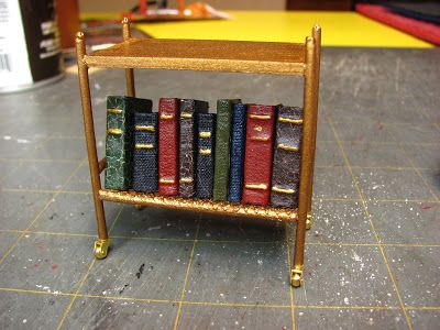 Dollhouse Miniature Furniture - Tutorials | 1 inch minis: mid-century T.V. stand