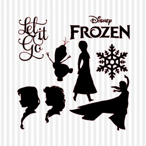 Frozen Silhouette Cameo