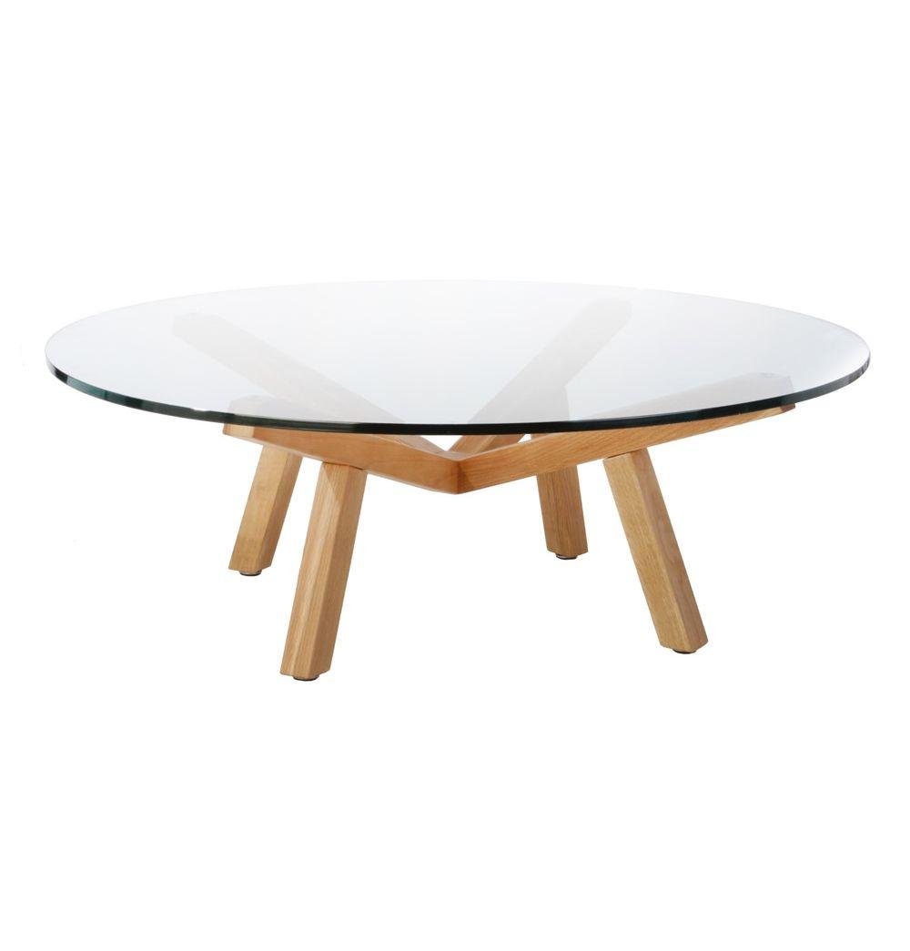 Original Sean Dix Forte Coffee Table Round Glass