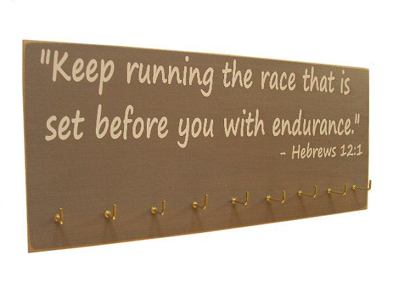 Running Medal Display Rack Inspirational Bible Verse Keep Impressive Bible Display Stand