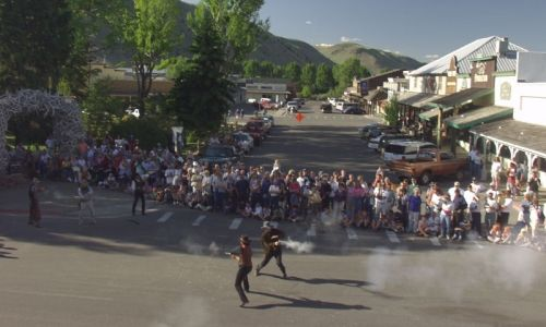 summer night shootout on the jackson town square vacation idea s