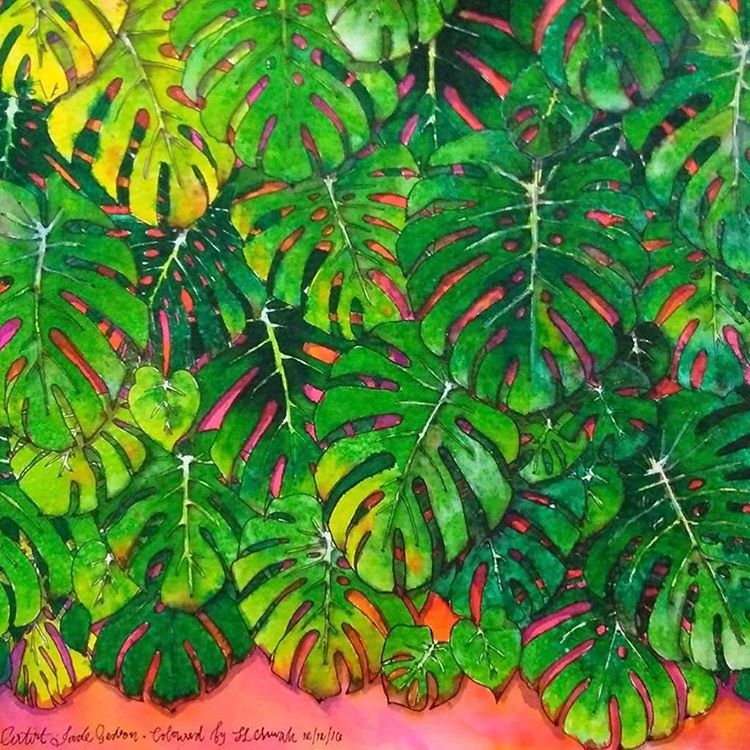 #monstera by @colouringfordexy . #rainforestescapebook #pagestreetpublishing