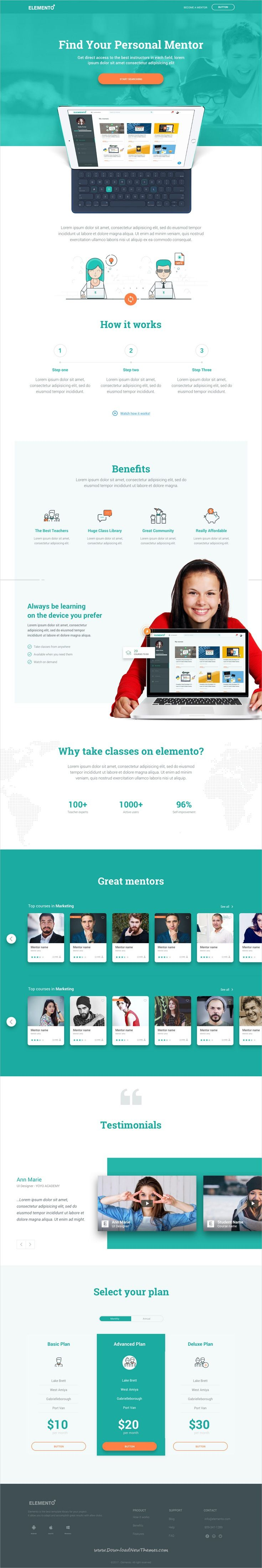 Elemento Is Clean And Modern Design Sketch Template For