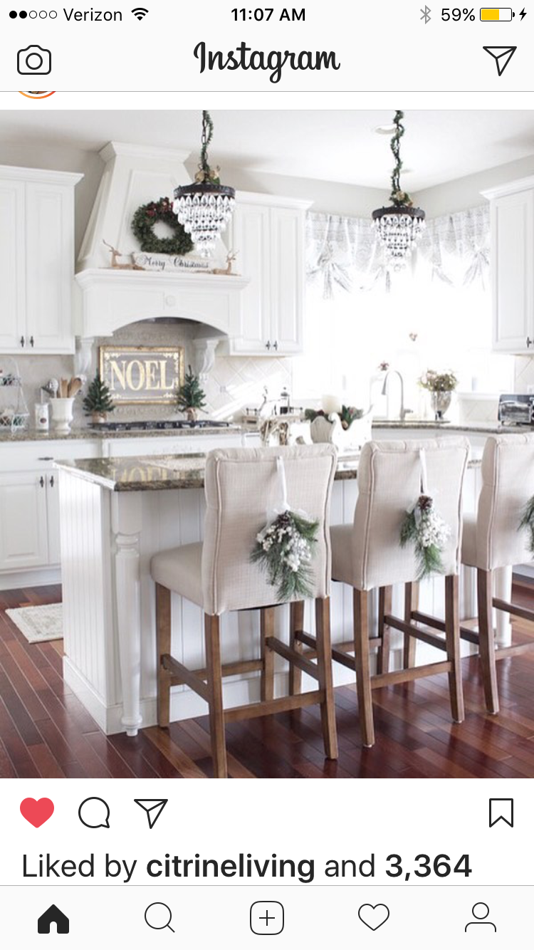 Pretty Holiday Kitchen Decor Source Unknown Christmas Kitchen