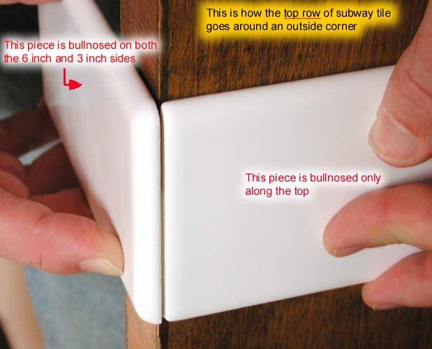 Chair Rail Tile Inside Corner Part - 16: Subway Tiles, Bullnose, And Chair Rail