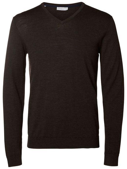 Cotton v-neck sweater Black (Selected Homme)