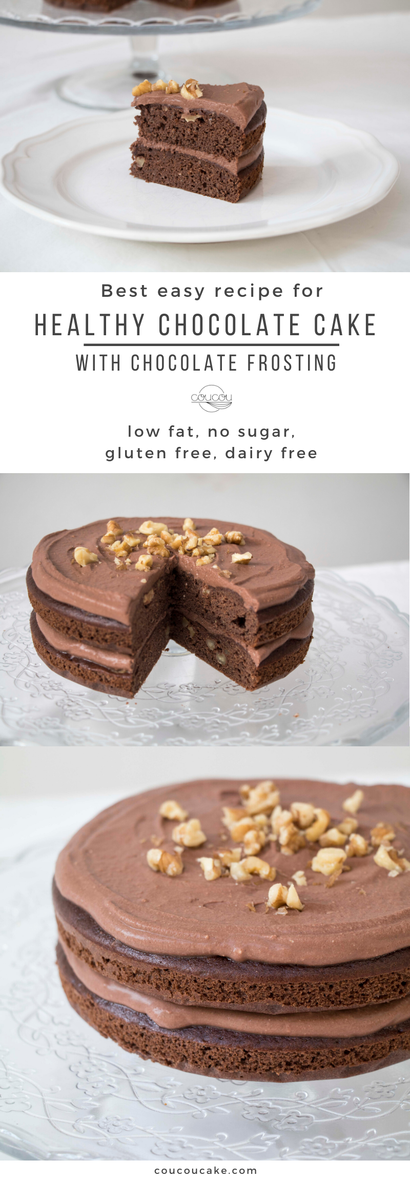 Healthy Chocolate Cake Recipe Coucoucake Cake And Baking Blog Recipe Healthy Chocolate Healthy Chocolate Cake Healthy Chocolate Cake Recipe