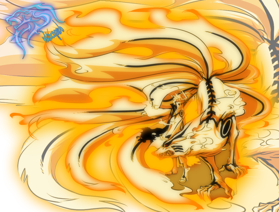 Naruto Bijuu Mode And Kurama By Nikocopado On Deviantart Naruto Art Naruto Naruto Uzumaki
