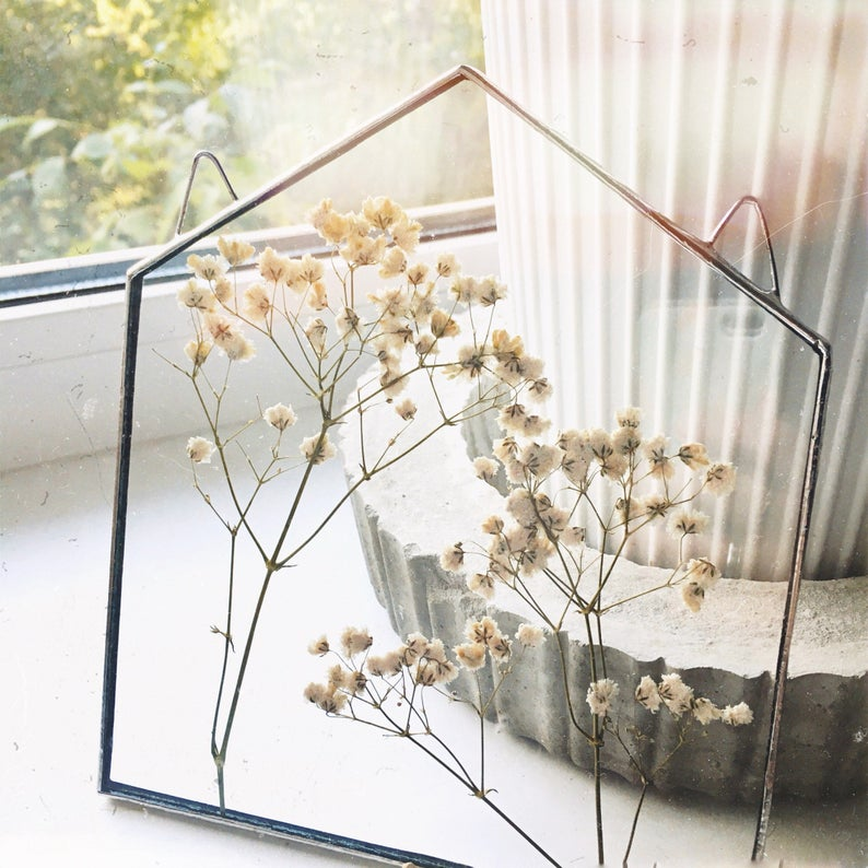Pin By Gina On Decorating Stained Glass Decor Babys Breath Flowers Glass Decor