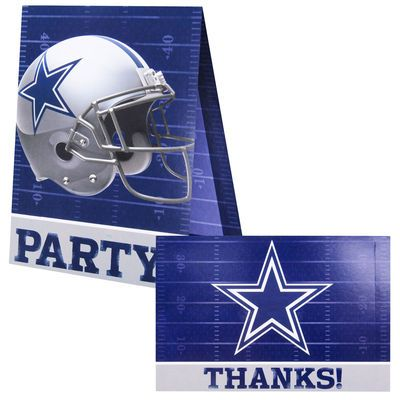 Dallas cowboys invitation and thank you card set birthday cards dallas cowboys invitation and thank you card set bookmarktalkfo Gallery