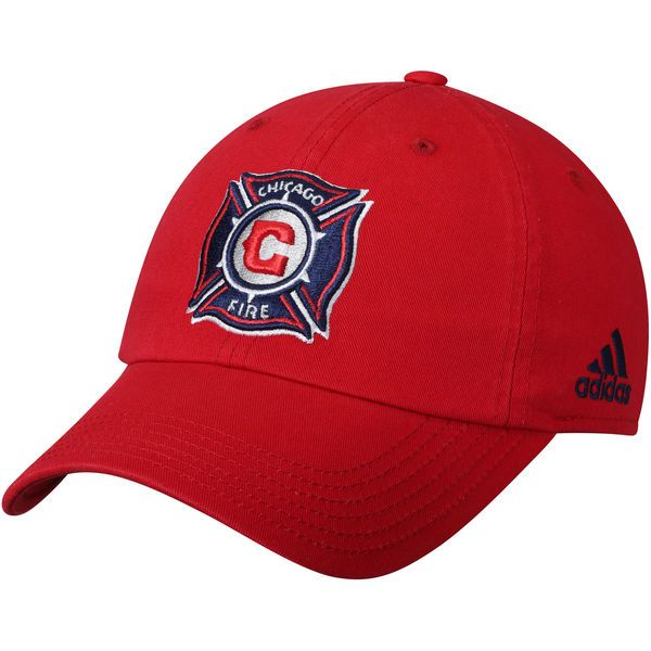 Youth Chicago Fire adidas Red Team Slouch Adjustable Hat c8ab7a83fd0b