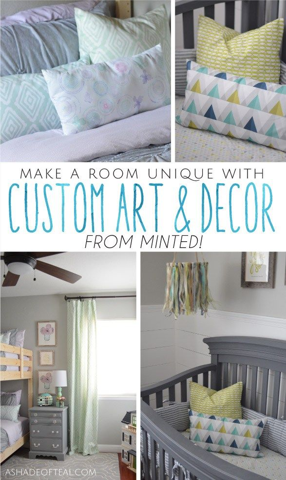 Make a room unique with custom art decor from minted