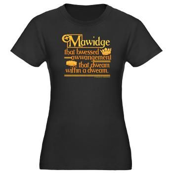 #PrincessBride25 Bridal party necessity: Princess Bride Mawidge Speech Women's Fitted Tee