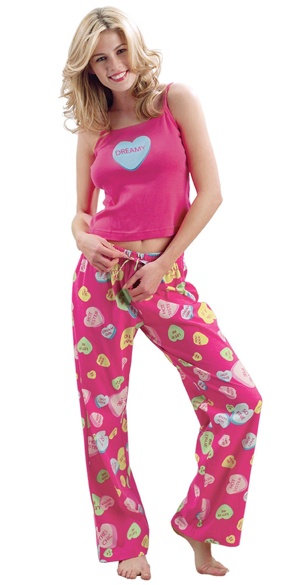 15de58169b Conversation Heart PJs - Valentine s Day Pajamas from PajamaGram.  54.99   ValentinesDay  Hearts  Pajamas