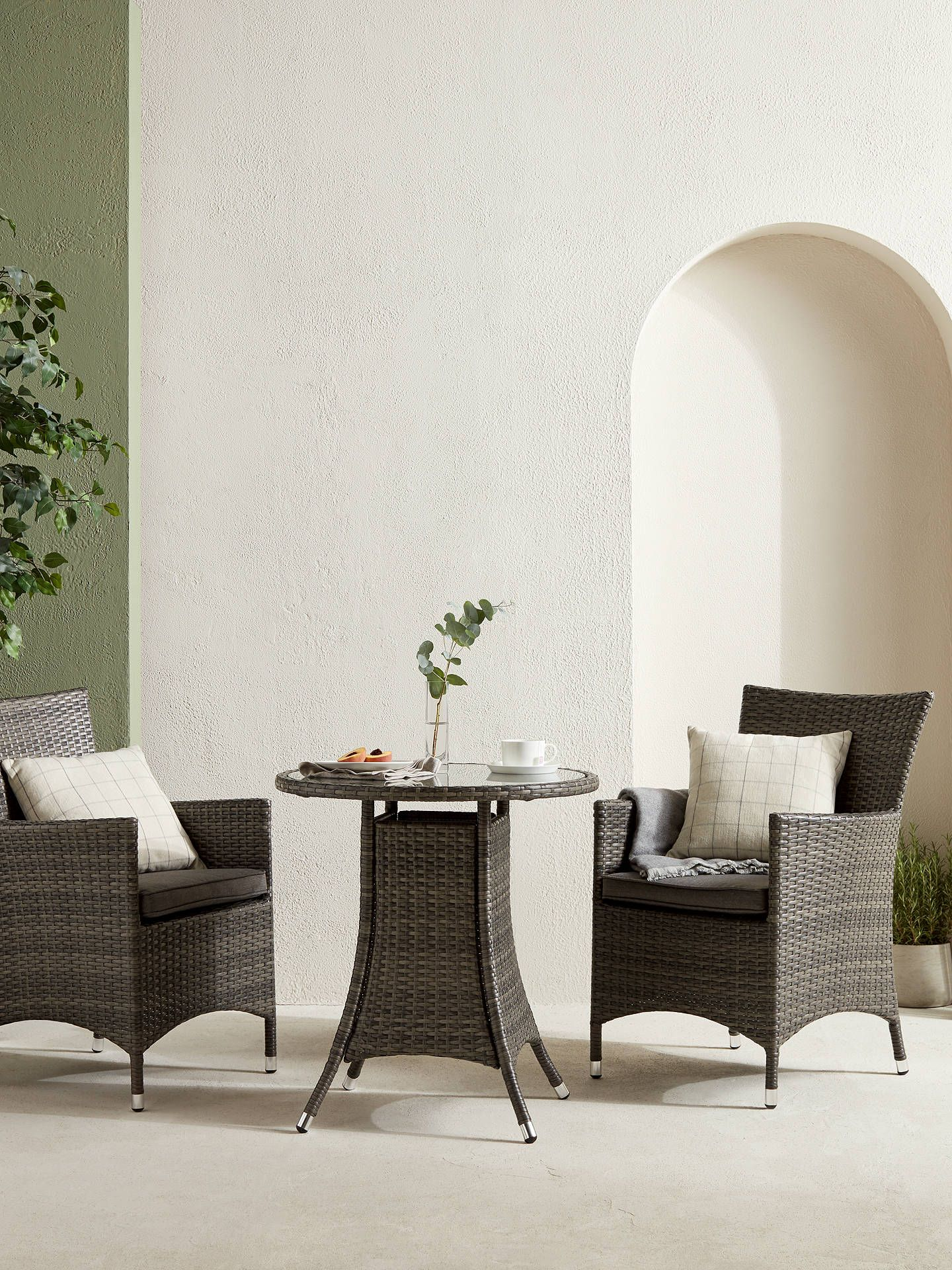 John Lewis Partners Alora Garden Bistro Table 2 Chairs Set