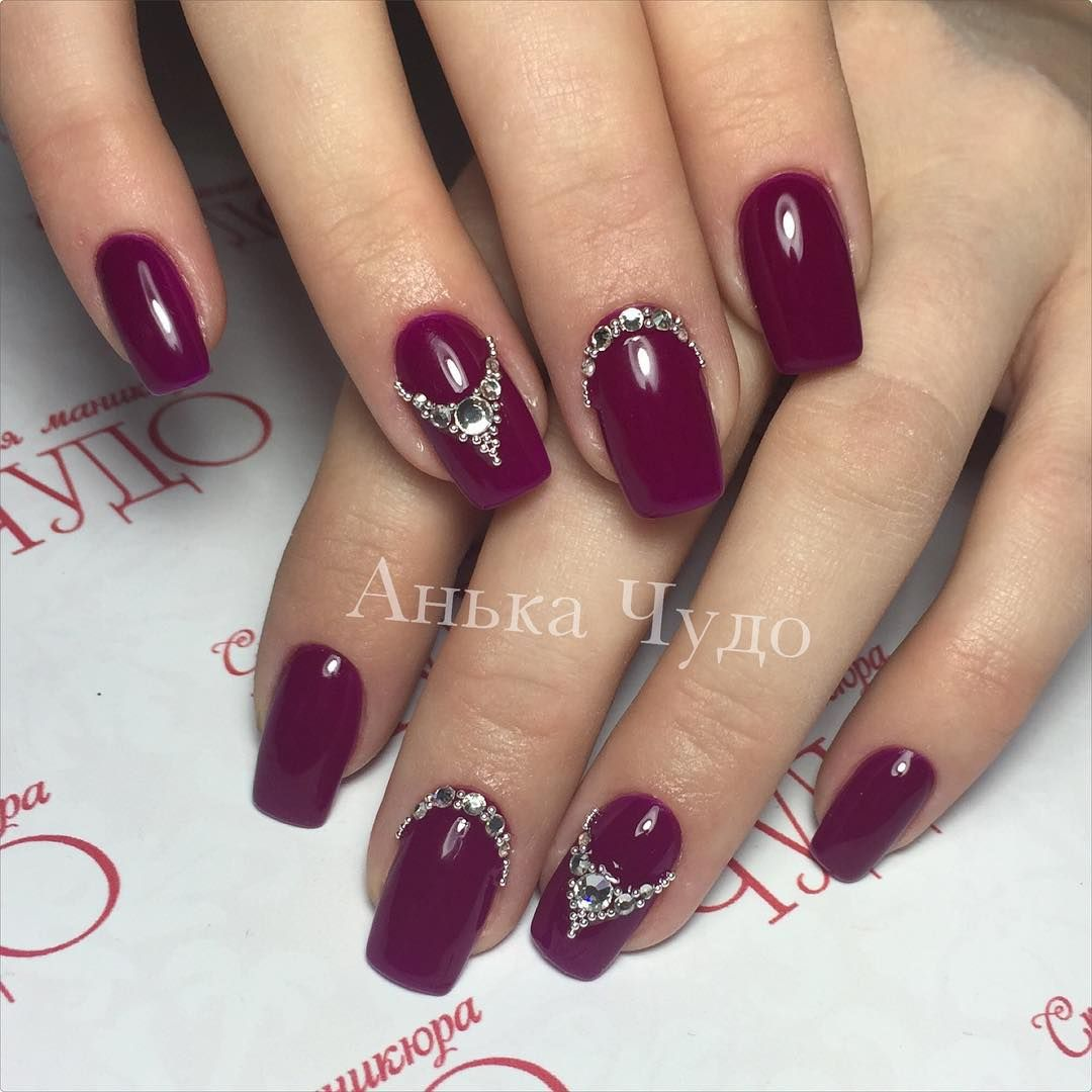Nagellack Bordeaux rot | Nageldesign Ideen | @annachudo_nails ...