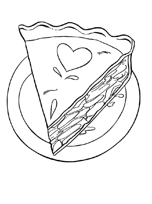 Love Decorated Cake Slice Coloring Pages Best Place To Color In 2020 Coloring Pages Cake Slice Coloring Pages For Kids