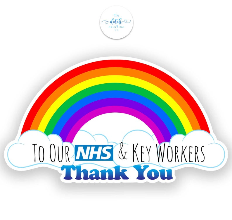 Thank You Nhs Window Sticker Save Our Nhs Stickers Stay At Etsy In 2020 Window Stickers Static Stickers Cling Stickers
