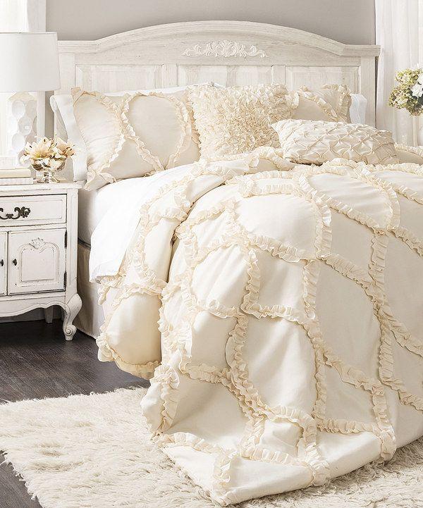 Loving this Ivory Avon Comforter Set on #zulily! #zulilyfinds