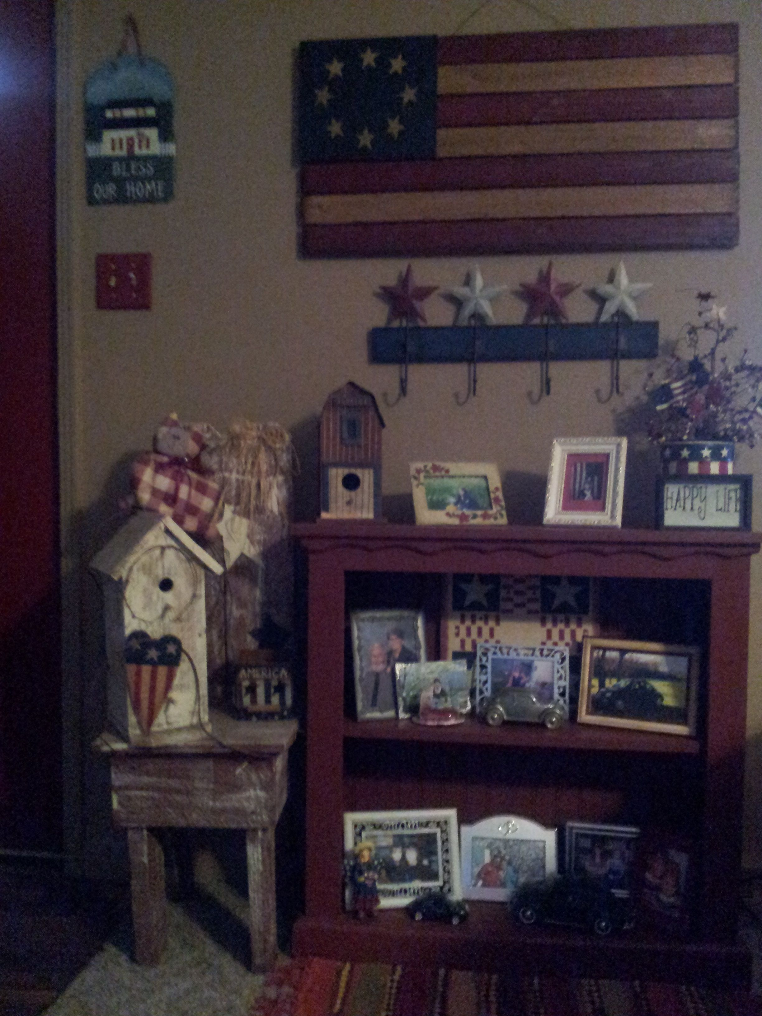 Pin by Christy Tate on New living room ideas ie: Americana theme