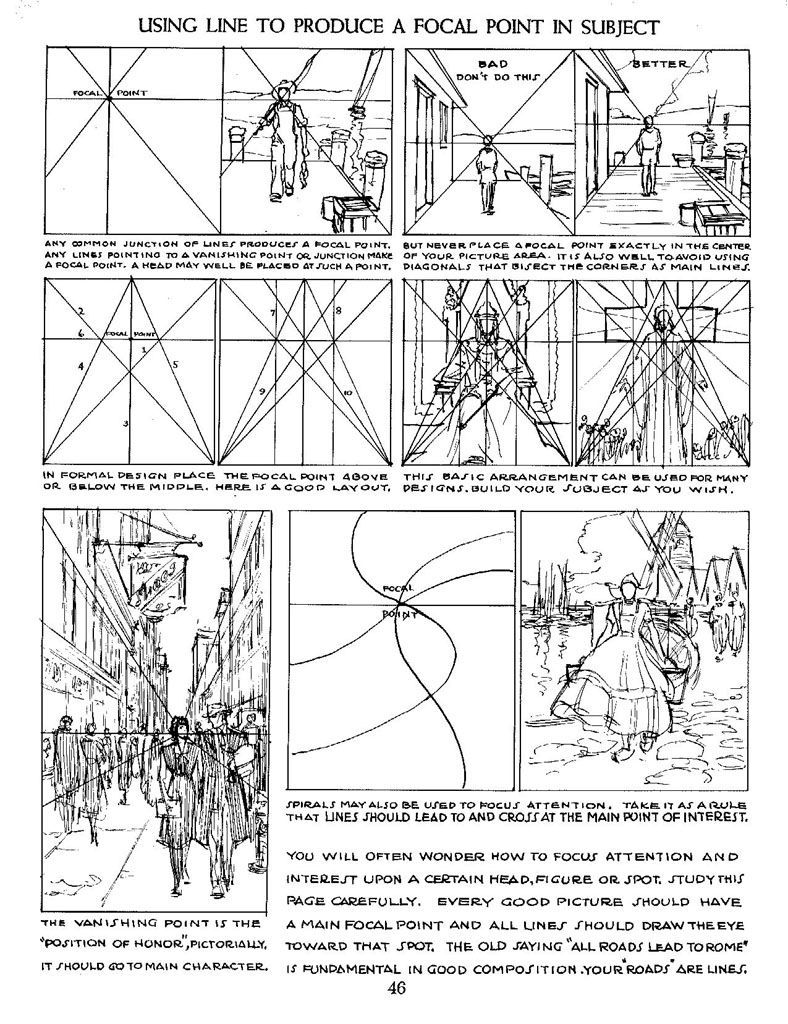 Lines and focal points   Art reference (Non-specific)   Pinterest ...