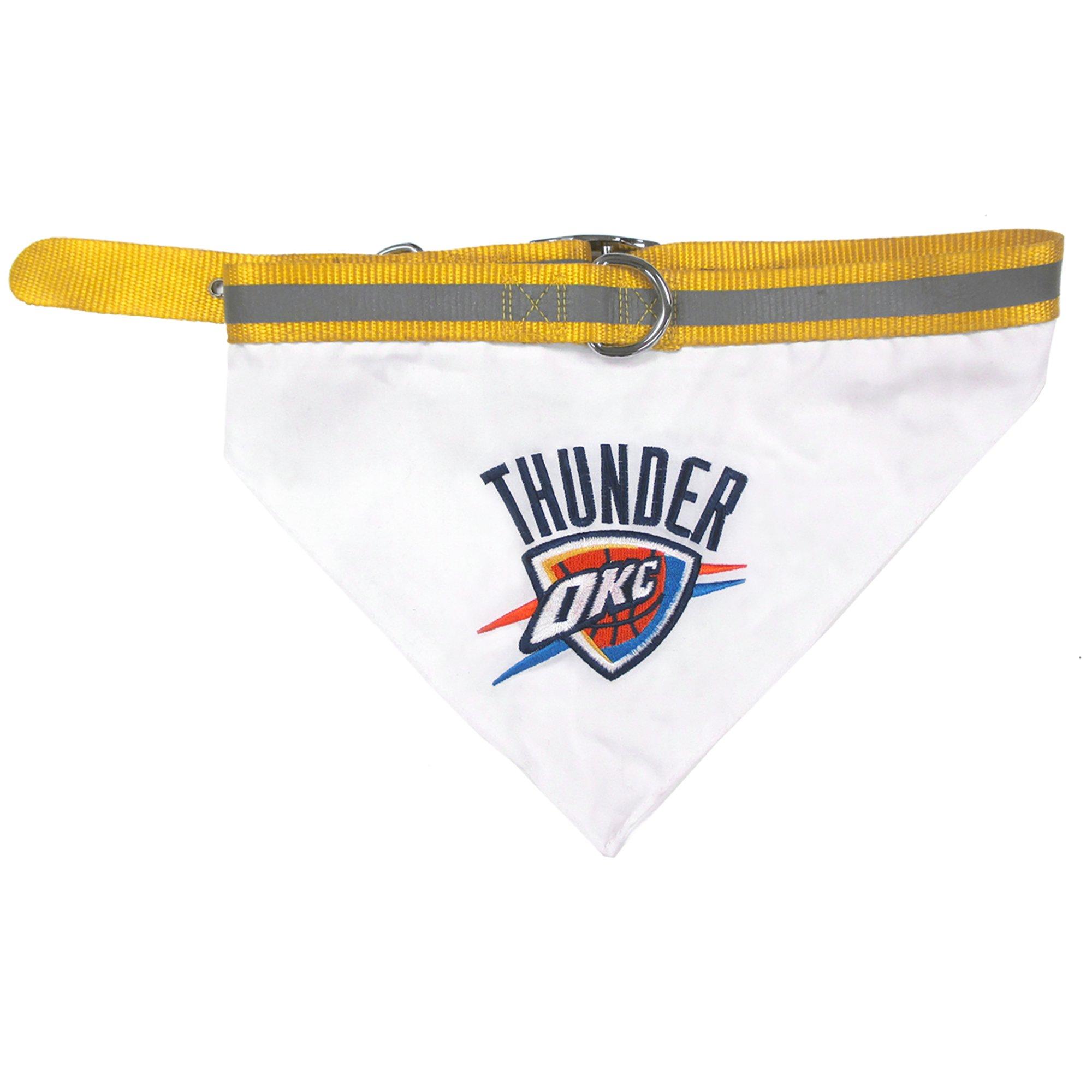Pets First Oklahoma City Thunder Nba Dog Collar Bandana Medium Dog Collar Bandana Oklahoma City Thunder Pet Collars
