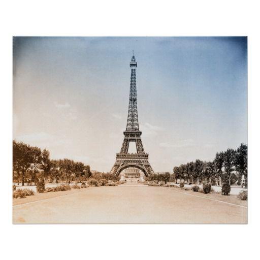 Eiffel Tower, Paris, Vintage Photograph Poster