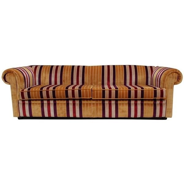 Buy Stripe Fabric Chesterfield Sofa Uk Designersofas4u 1 290 Liked On Polyvore Featuring Fabric Chesterfield Sofa Chesterfield Sofa Uk Chesterfield Sofa