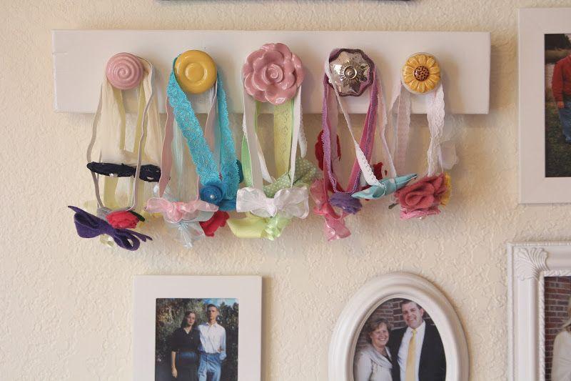 Door Knobs On Wood To Hang Headbands Neeeeeed This