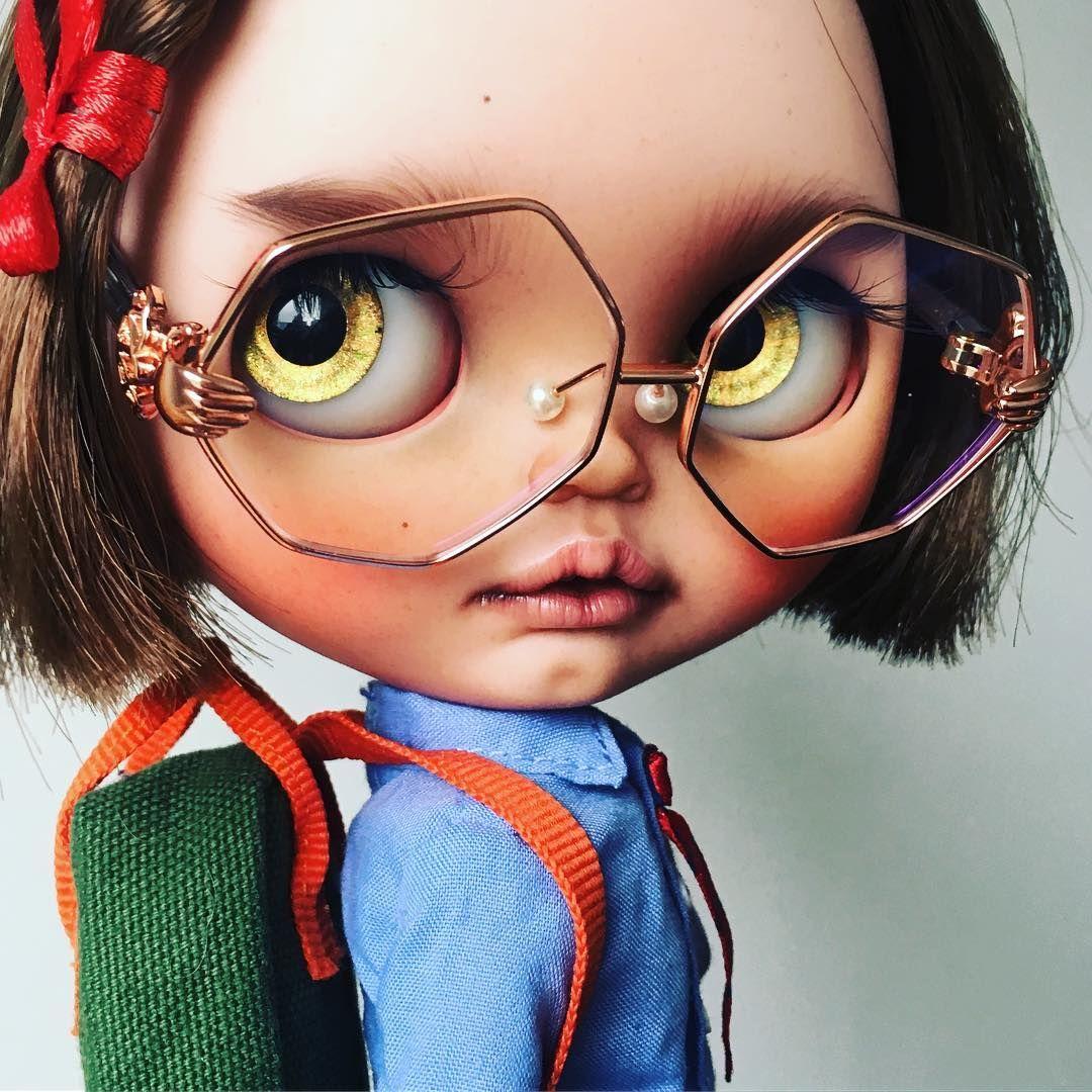 Too cool for school. #tiinacustom | Blythe dolls, Art ...