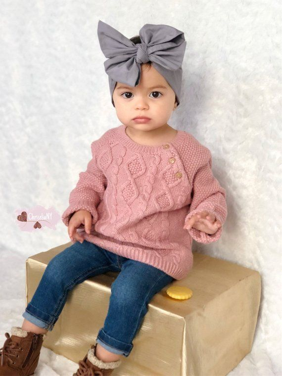 Photo of Grey Headwrap, head wrap,  Fabric Head Wrap, Baby headwrap, …