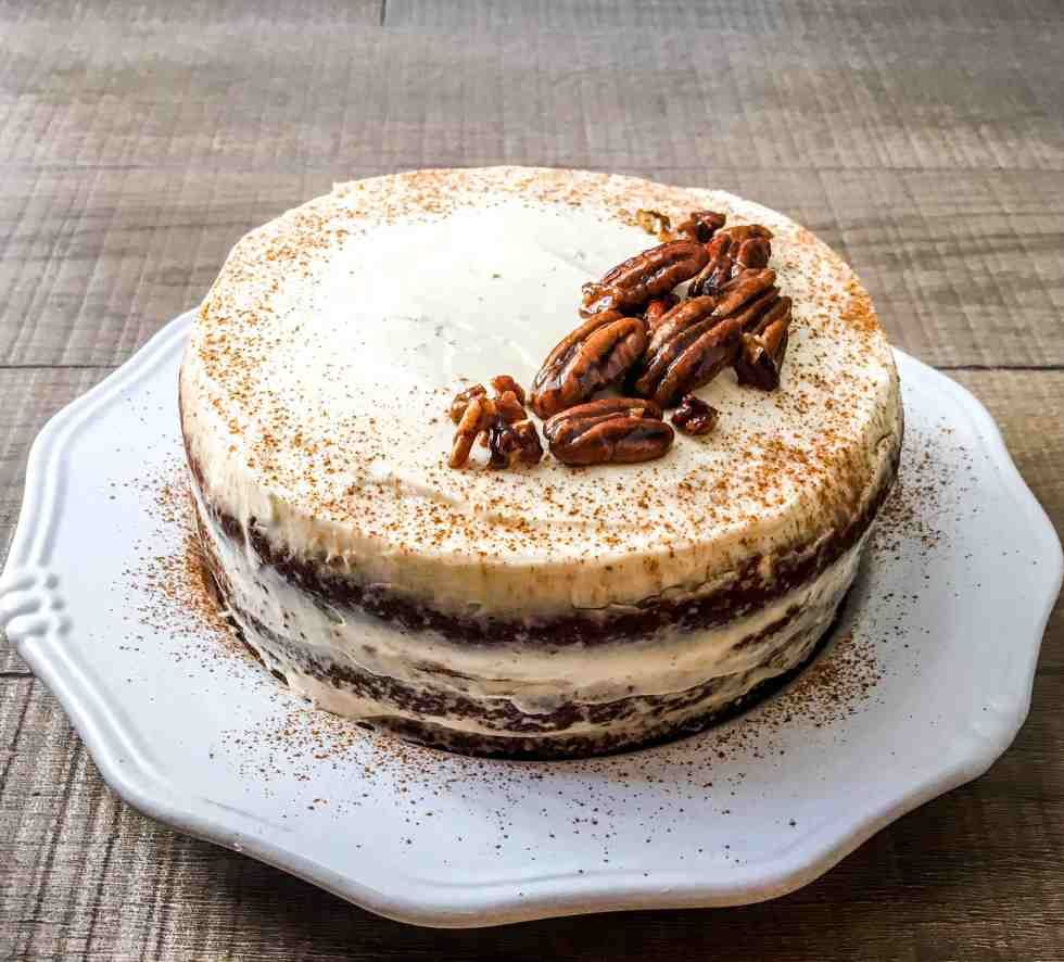 Healthier carrot cake healthy forkful recipe baking