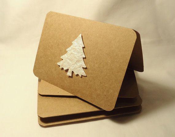 Kraft Paper Christmas Cards Christmas Tree Cards Kraft Paper Tree Cards Kraft Paper Christmas Cards Christmas Cards Handmade Christmas Card Crafts