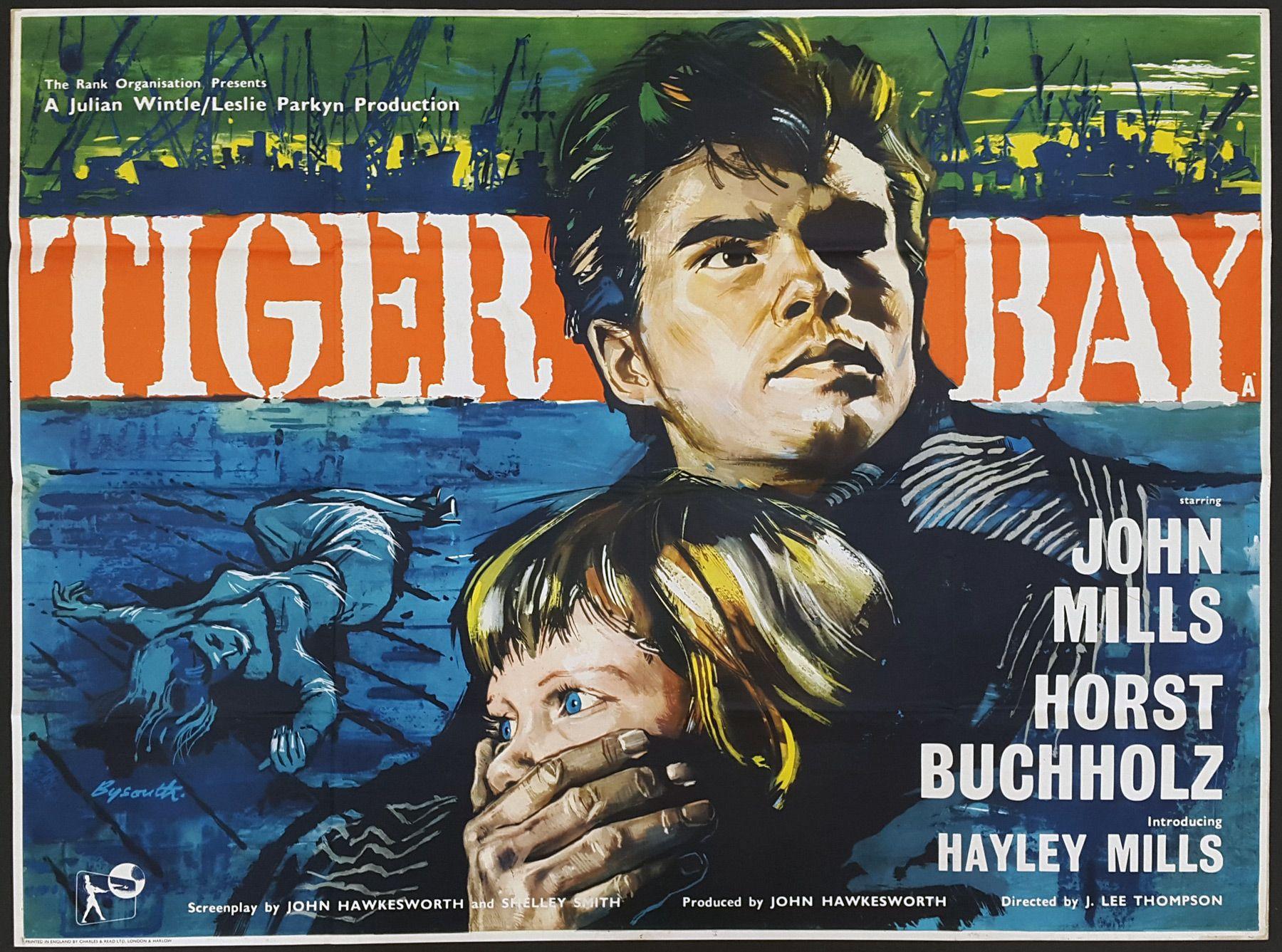 Tiger Bay (1959) U.K. Quad | Comedy movies for kids, John mills ...