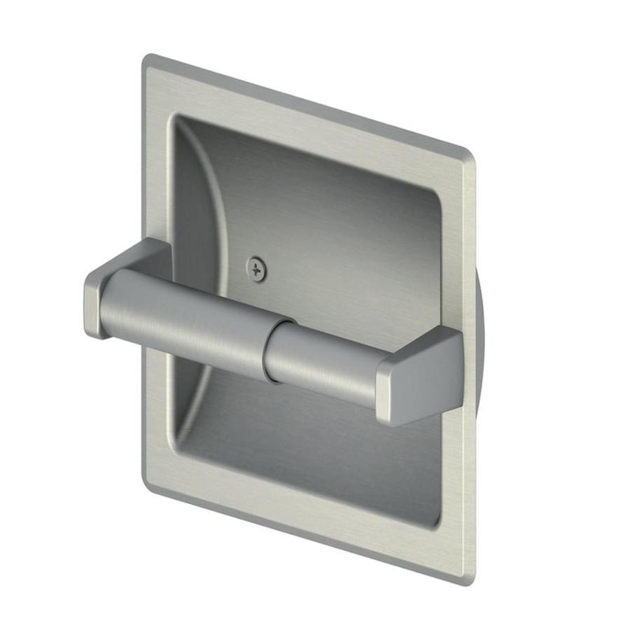 Project Source Seton Brushed Nickel Recessed Spring Loaded Toilet Paper Holder Fsi Srtp Bnic Recessed Toilet Paper Holder Toilet Paper Bathroom Hardware