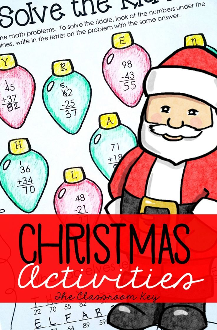 Christmas Activities | Math activities, Math and Activities