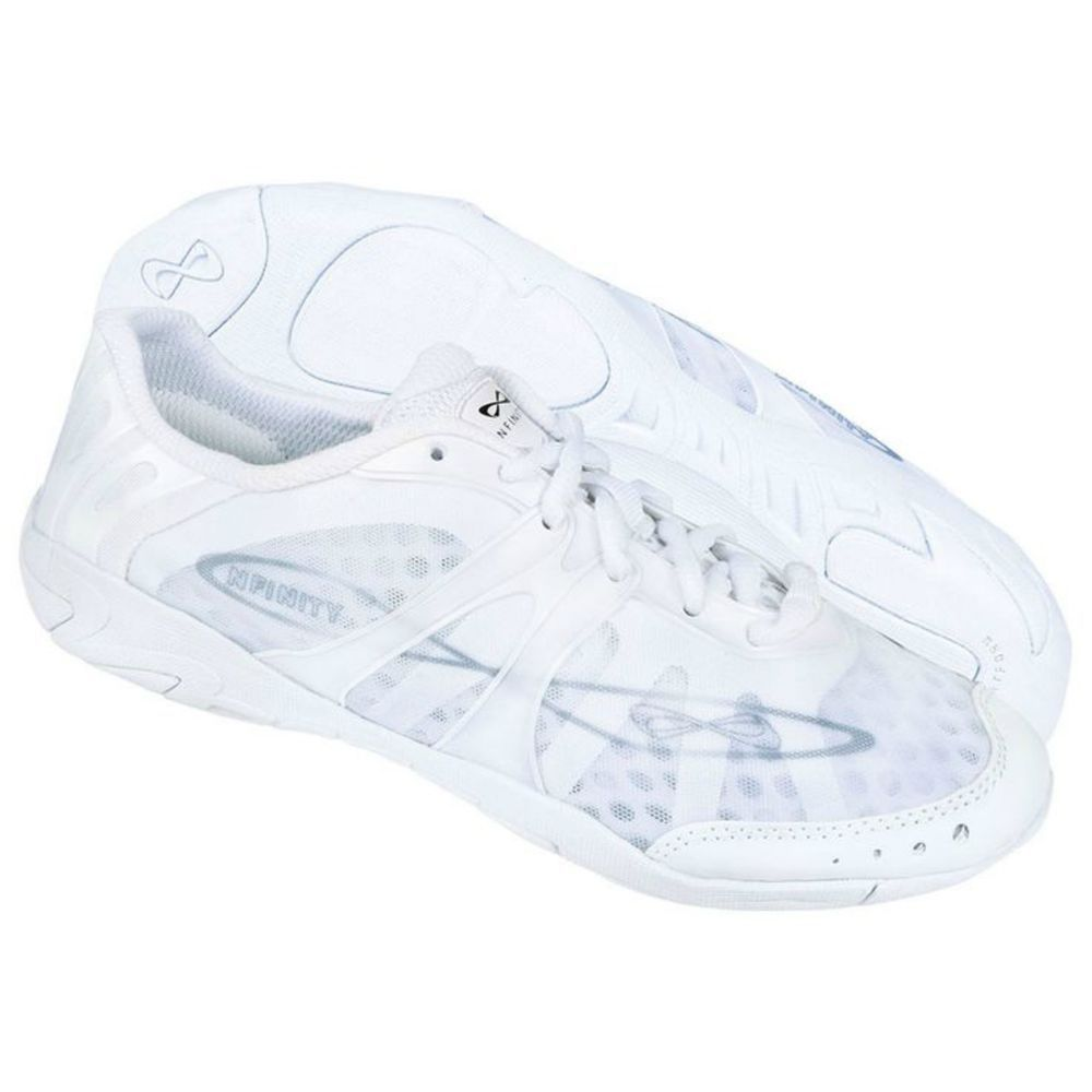 Nfinity Vengeance White Cheer Shoes Sneakers Size 4 5 Youth New With Bag Box Ebay Link Nfinity Cheer Shoes Cheer Shoes Nfinity Vengeance