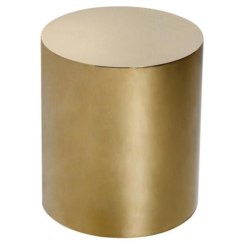 This Polished Br Side Table Has An Elegant Color In A Soft Cylinder Shape As Matching Set Bedroom Or Stand Alone Accent