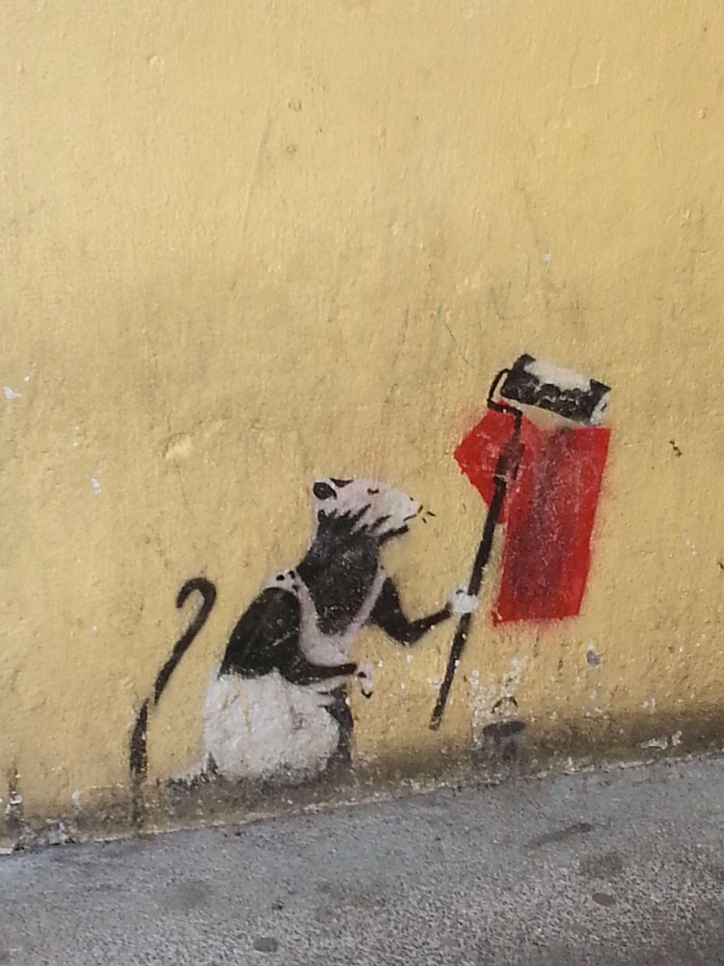 Found art by Banksy. Killarney, Ireland | My Pictures, My Adventures ...