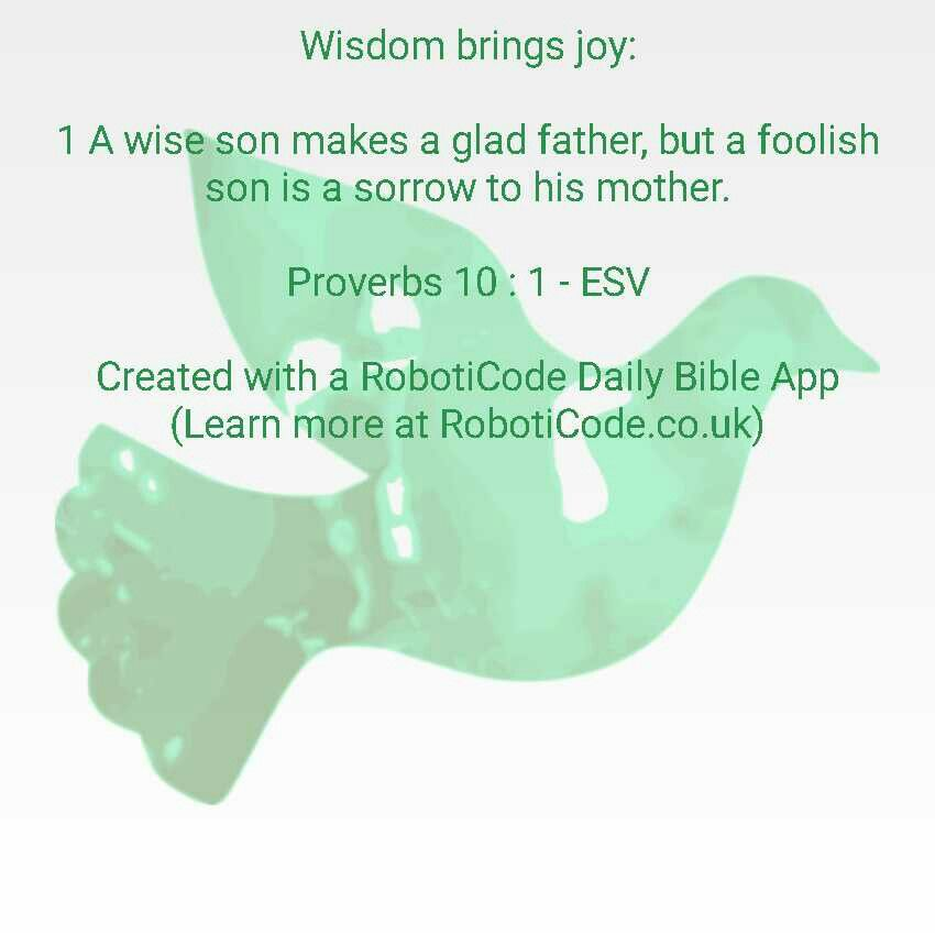 "#Bible verse found with ""Wise Proverbs Daily"" for Android, iPhone and Kindle Fire! http://www.roboticode.co.uk"