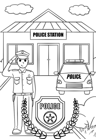 Do You Have A Child Who Has A Dream To Become A Police The Police Station Coloring Pages Prov In 2021 Police Station Preschool Coloring Pages Superhero Coloring Pages