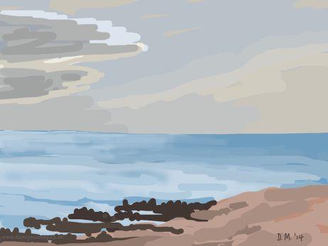 Danny Mooney 'Blue sea, 5/12/2014' iPad painting #APAD