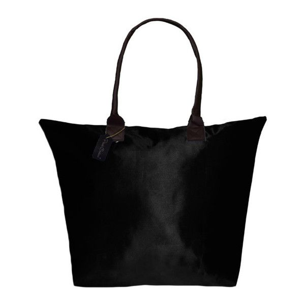 Peach Couture KYLIE Solid Black Plage a Main Waterproof Beach Tote ($25) ❤ liked on Polyvore featuring bags, handbags, tote bags, black tote bag, beach tote bags, black purse, black beach bag and waterproof handbag