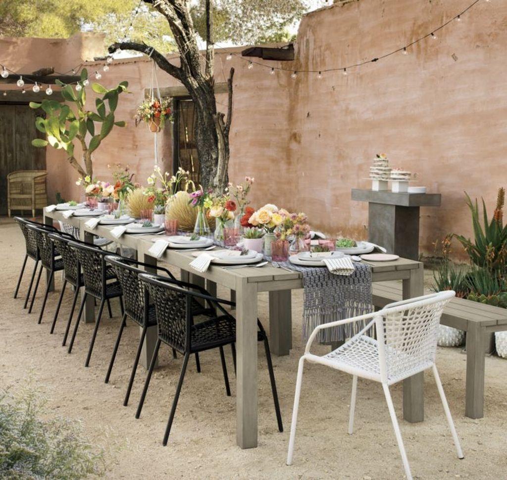 33 inspiring outdoor dining table design ideas in 2020