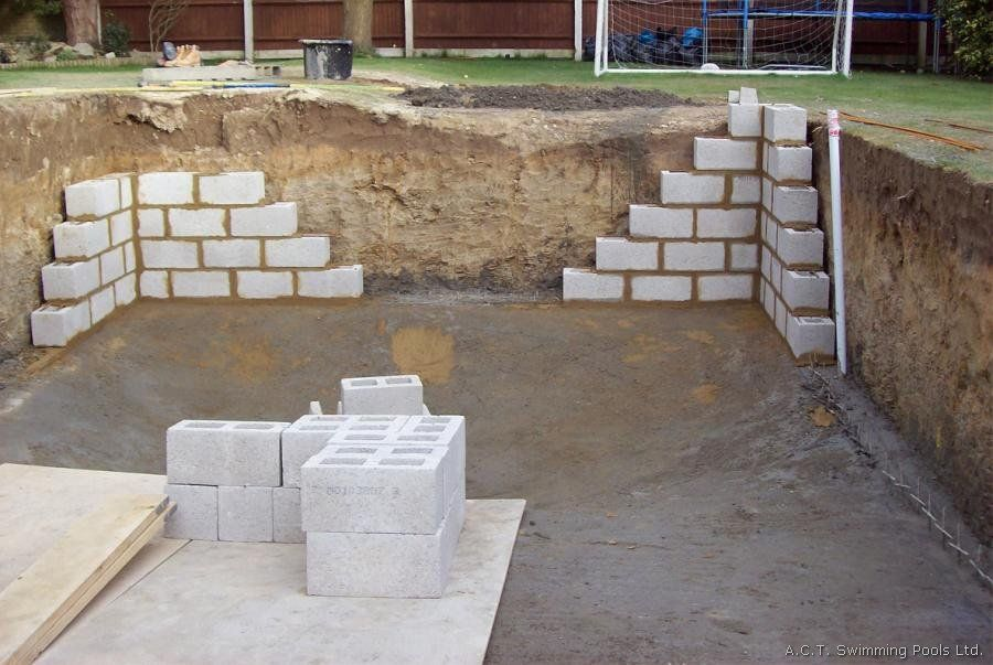 ordinary concrete block swimming pool plans #5: Swimming Pools are a leading UK Swimming Pool Company who is experienced at  the whole process of installing your swimming pool from your first ideas to  your ...