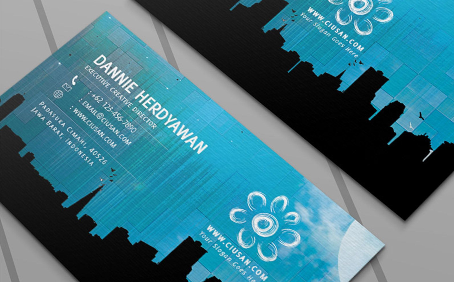 Creative Blue Business Card Psd Template 65117 Business Card